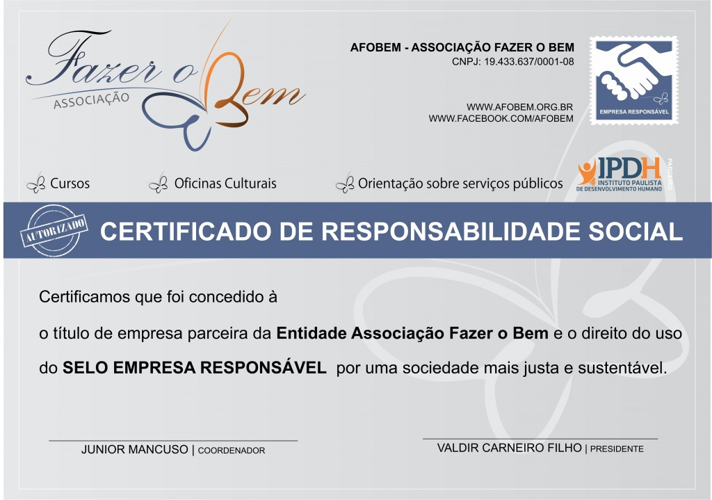 CertificadoDeResponsabilidadeSocial